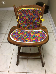 baby high chair wood