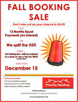 12 Equal Payments or Share The HST - Pick Your Promo & WIN!!