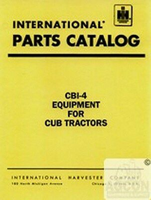 International Farmall Cub Lo-boy 154 184 185 284 Equipment Parts Catalog Manual