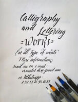 Offer Calligraphy and Lettering works
