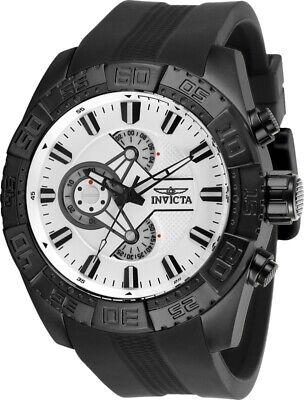 Invicta 25995 Pro Diver Men's 50mm Chronograph Black-Tone White Dial Watch