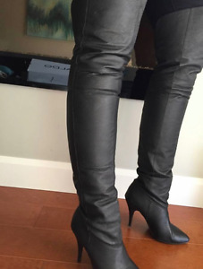 $300+ Genuine Leather Thigh High Boots
