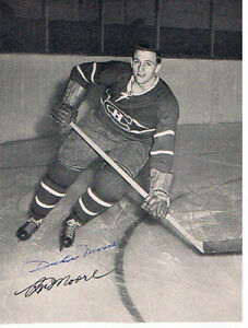 DICKIE MOORE INDUCTED HHOF AUTOG PHOTO & HWL PLAYED MONTREAL London Ontario image 3