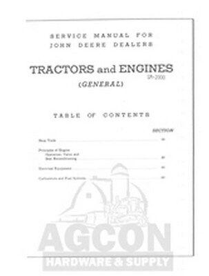 John Deere Tractor Service Manual A B D G Gm Gp H L M