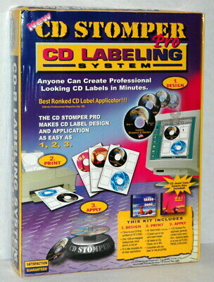 Cd Stomper Pro Cd Labeling System For Pc And Mac - New -
