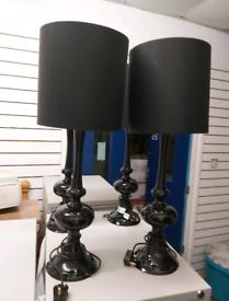 Side Lamps - Quality 2ft 4 ( 70cm ) Black Bedroom / Living Room Side L
