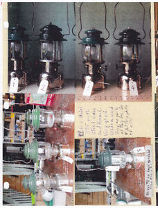 Antique Canadian Coleman Collection Lanterns Irons Stoves Heater