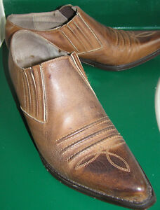 Guess Western Men's Leather Boots Made in Spain Size 8