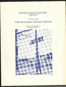 Records of Toronto Potter's Field Cemetery, 1826-1855