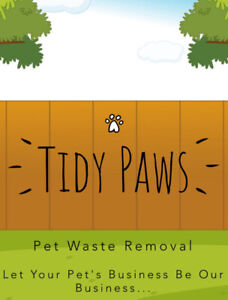 Tidy Paws Pet Waste Removal/ Yard cleaning services