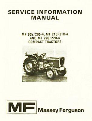 Massey Ferguson Mf 205 210 220 -4 Service Info Manual