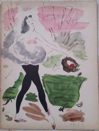 1949-1950 American Ballet Theatre Annual Marcel Vertes Art Cover