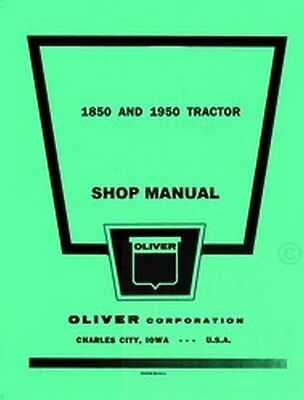 Oliver 1850 1950 Gas Diesel Tractor Shop Service Manual