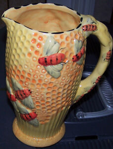 Majolica style Bumble Bee Pitcher. Belleville Belleville Area image 1