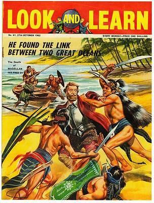 1962 UK magazine LOOK AND LEARN #41 - RUDYARD KIPLING, Bell Rocket Belt