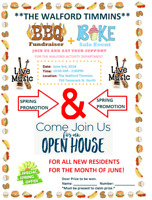 The Walford BBQ and Bake Sale and OPEN HOUSE FOR NEW RESIDENTS.