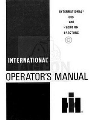 International 686 Hydro 86 Tractor Operators Manual