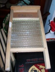 Medium Pearl  Glass Washboard