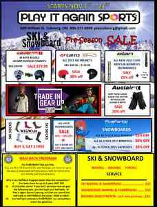 PLAY IT AGAIN SPORTS COBOURG - PRE SEASON SKI & SNOWBOARD SALE