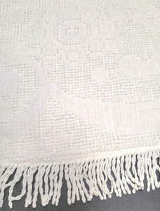 Beautiful white chenille twin/double & queen/king bedspreads