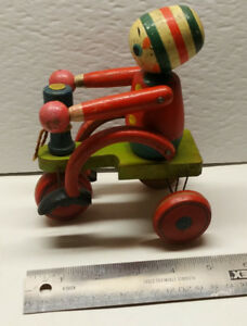 Vintage Wooden Toy - Tricycle from Japan