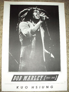 Bob Marley Print/Poster by Kuo Hsiung 18 x 25
