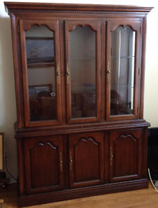 Beautifil Dark Wood Buffet and Hutch