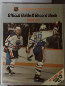 5 Copies of NHL Official Guide and Record Book 1985 - 1990