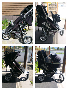 Valco tri mode stroller with accessories