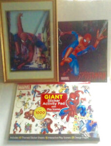 Spiderman Framed 3D Paper Tole Picture Tin Sign and Giant