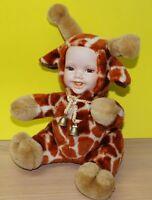Collectible Toy - Baby Giraffe Doll Porcelain Face