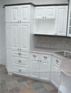 Kitchen Cabinets - White - New  for Apartment or Basement