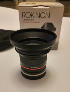 Rokinon 12mm f2.0 for the Sony e-mount