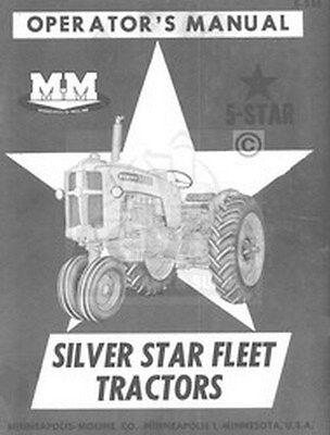 Minneapolis Moline 5 Star Silver Operators Owner Manual