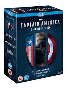 BLU-RAY! CAPTAIN AMERICA TRILOGY BOX SET