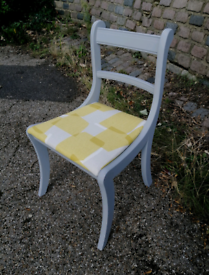 Upcycled vintage chair upholstered and painted