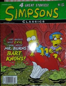 2 copies of SIMPSONS COMICS & BART LIBRARY OF WISDOM BOOK