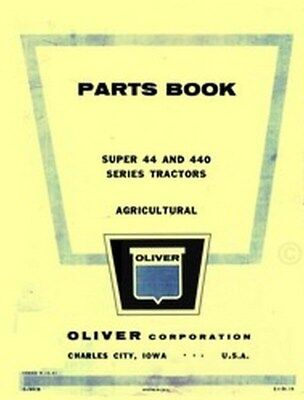 Oliver Super 44 440 Series Tractor Parts Manual Book