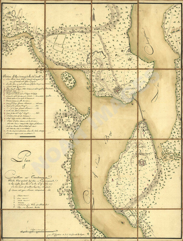Plan of Fort Ticonderoga NY c1777 map 21.5x28