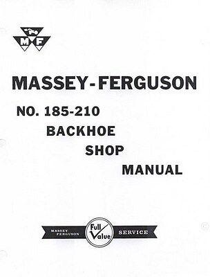 Massey Ferguson Mf 185 210 Backhoe Shop Service Manual