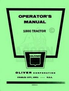 Oliver-1800-Tractor-Operators-Maintenance-Manual