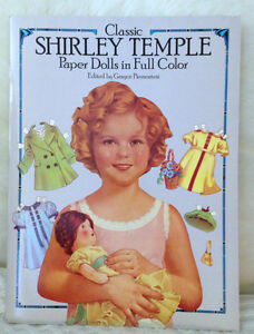 AUTHENTIC LARGE Shirley Temple Paper Dolls/CutOuts circa 1986