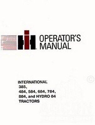 International 385 484 584 684 Tractor Operators Manual
