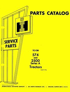 International-574-2500-A-2500A-Parts-Catalog-Manual-IH