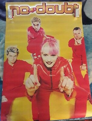 No Doubt / Gwen Stefani / Orig. Group Poster / Red #6539 / Exc. new cond.- 22x34