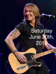 Keith Urban Lawn Tickets - Saturday June 30th