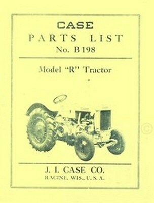 Case Model R Tractor Repair Parts List Catalog Manual, used for sale  Shipping to India