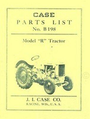 Case Model R Tractor Repair Parts List Catalog Manual