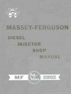 Massey Ferguson Diesel Injector Shop Service Manual, used for sale  Shipping to India