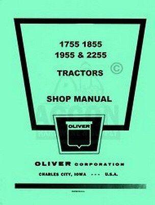 Oliver 1755 1855 1955 2255 Tractor Shop Service Manual